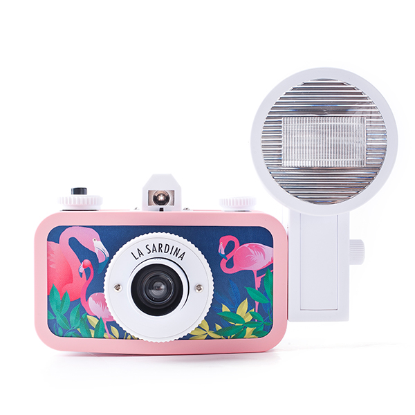 La Sardina Dress Midnight Flamingo